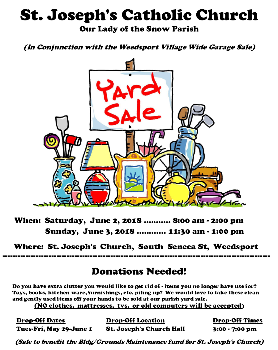 St. Joseph's Catholic Church Garage Sale